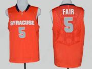 Mens Ncaa Nba Syracuse Orange #5 Fair Orange Jersey