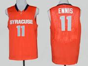 Mens Ncaa Nba Syracuse Orange #11 Ennis Orange Jersey