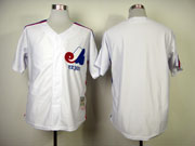 Mens mlb montreal expos (blank) white throwbacks Jersey