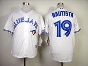 mens mlb Toronto Blue Jays #19 Jose Bautista white 2012 new style jersey