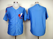 Mens mlb montreal expos (blank) blue Jersey
