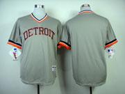 Mens Mlb Detroit Tigers Custom Made  Gray 1984 Turn Back Cool Base Jersey
