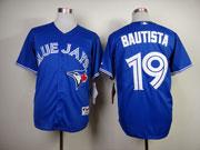 mens mlb Toronto Blue Jays #19 Jose Bautista blue 2012 new style jersey