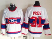 mens nhl Montreal Canadiens #31 Carey Price white (red number) classics throwbacks jersey