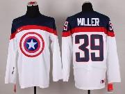 Mens nhl captain america #39 miller white Jersey