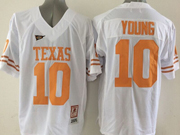 Mens Ncaa Nfl Texas Longhorns #10 Young White Jersey
