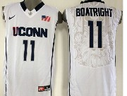 Mens Ncaa Nba Uconn Huskies #11 Boatright White Jersey