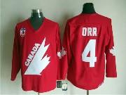 Mens Ccm Nhl Team Canada #4 0rr Red Throwbacks Jersey
