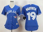 women mlb Toronto Blue Jays #19 Jose Bautista blue (2012 majestic) jersey