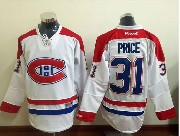 mens reebok nhl Montreal Canadiens #31 Carey Price white (ch) lacing jersey