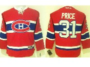 women reebok nhl Montreal Canadiens #31 Carey Price red (ch) lacing jersey