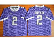 Mens Ncaa Nfl Tcu Horned Frogs #2 Boykin Purple Jersey