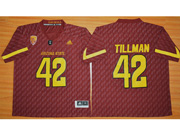Mens Ncaa Nfl Arizona State Sun Devils #42 Tillman Red Jersey