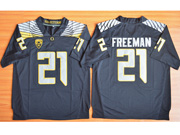 Mens Ncaa Nfl Oregon Ducks #21 Freeman Black (light Gray Number) Jersey