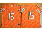 Mens Ncaa Nfl Miami Hurricanes Custom Made Orange Jersey