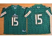 Mens Ncaa Nfl Miami Hurricanes #15 Brand Kaaya (2015 New) Green Jersey