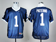 Mens Ncaa Nfl Penn State Nittany Lions #1 Paterno Blue Elite Jersey