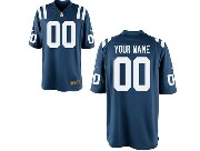 Youth Nfl Indianapolis Colts (custom Made) Blue Game Jersey