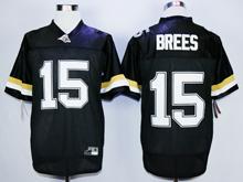 Mens Ncaa Nfl Purdue Boilermakers #15 Drew Brees Black Jersey