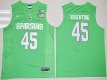 Mens Ncaa Nba Michigan State Spartans #45 Denzel Valentine 2017 Green Jersey