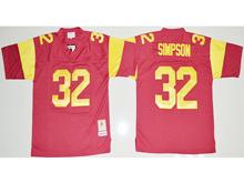 Mens Ncaa Nba Usc Trojans #32 O.j Simpson Red Jersey