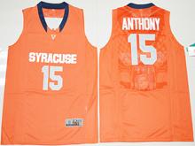 Mens Ncaa Nba Syracuse Orange #15 Camerlo Anthony Orange Jersey