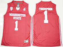 Mens Ncaa Nba Washington State Cougars #1 Klay Thompson Red Jersey
