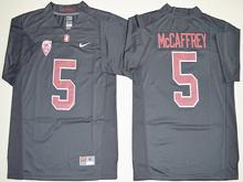Mens Ncaa Nfl Stanford Cardinal #5 Christian Mccaffrey Black Jersey