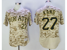 Mens Majestic Pittsburgh Pirates #27 Jung-ho Kang Camo Painting Flex Base Jersey