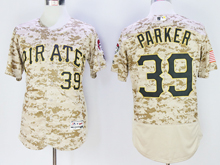Mens Majestic Pittsburgh Pirates #39 Dave Parker Camo Painting Flex Base Jersey