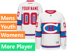 Mens Women Youth Reebok Montreal Canadiens White 2016 Winter Classic Premier Current Player Jersey