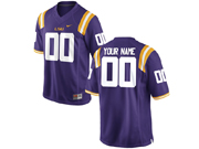 Mens Ncaa Nfl Lsu Tigers Custom Made Purple Jersey