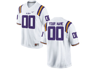 Mens   Ncaa Nfl Lsu Tigers White Custom Made Jersey