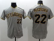 Mens Majestic Pittsburgh Pirates #22 Andrew Mccutchen Gray Flex Base Jersey