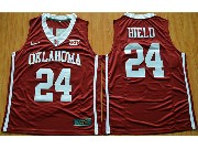 Mens Ncaa Nba 2016 Oklahoma Sooners #24 Buddy Hield Red College Basketball Jersey