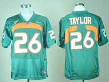 Mens Ncaa Nfl Miami Hurricanes #26 Sean Taylor Green Jersey