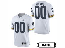 Mens Jordan University Of Michigan Football White Game Jersey