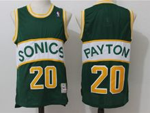 Mens Nba Seattle Supersonics #20 Gary Payton Green Mitchell&ness Throwbacks  Jersey