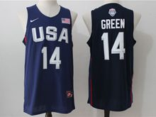 Mens Nba 12 Dream Teams #14 Draymond Green Blue Jersey