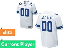 Mens Dallas Cowboys White Elite Current Player Jersey