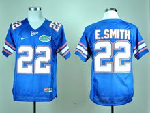Mens Ncaa Nfl Florida Gators #22 E.smith Blue Elite Jersey