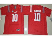 Youth Ncaa Nfl Ole Miss Rebels #10 Eli Manning Red College Alumni Jersey