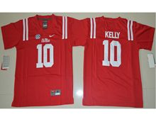 Youth Ncaa Nfl Ole Miss Rebels #10 Chad Kelly Red College Jersey