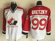 Mens Nhl Team Canada #99 Wayne Gretzky White (2002 Olympics) Throwback Jersey