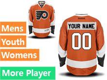 Mens Women Youth Reebok Philadelphia Flyers Orange Home Premier Current Player Jersey