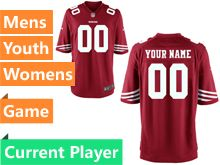 Mens Women Youth Nfl San Francisco 49ers Red Game Current Player Jersey