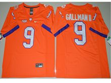 Mens Ncaa Nfl Clemson Tigers #9 Wayne Gallman Ii Orange Limited Jersey