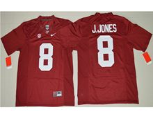 Mens Ncaa Nfl Alabama Crimson #8 Julio Jones Crimson Limited Jersey