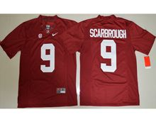 Mens Ncaa Nfl Alabama Crimson #9 Bo Scarbrough Crimson Limited Jersey(sn)