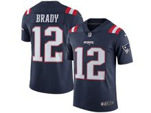 Mens New England Patriots #12 Tom Brady Navy Blue Vapor Untouchable Color Rush Limited Player Jersey